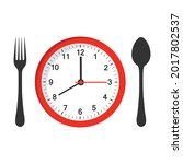 mobile app logo food time on... | Shutterstock . vector #2017802537