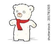 cartoon cute polar bear | Shutterstock .eps vector #201781505