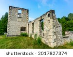 Old Woolen Mill Ruins At The...