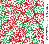 christmas seamless pattern with ... | Shutterstock .eps vector #2017874027
