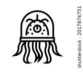 alien creature with tentacles... | Shutterstock .eps vector #2017876751