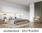 Interior With Bed  Bedside...