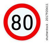 Road Sign Tempo 80 ...