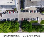 Aerial View Of Urban Parking...