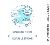 searching filter blue concept... | Shutterstock .eps vector #2017953284