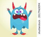 angry cartoon monster character.... | Shutterstock .eps vector #2017963094