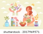 herbal medicine and homeopathy...   Shutterstock .eps vector #2017969571