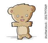 cartoon teddy bear   Shutterstock .eps vector #201797069