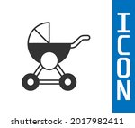 grey baby stroller icon... | Shutterstock .eps vector #2017982411