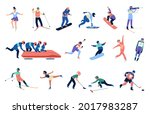 winter sports people....   Shutterstock .eps vector #2017983287