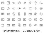 set of date and time icons ...