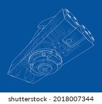 abstract industry object...   Shutterstock .eps vector #2018007344