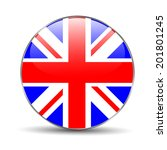 great britain flag on button | Shutterstock . vector #201801245