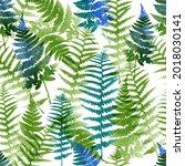 leaves vector seamless pattern. ... | Shutterstock .eps vector #2018030141