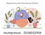 international negotiations... | Shutterstock .eps vector #2018032904