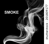 vector abstract smoke background | Shutterstock .eps vector #201809177