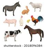domestic animals. farm birds... | Shutterstock .eps vector #2018096384