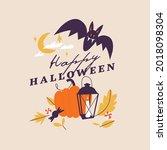 vector illustration halloween...   Shutterstock .eps vector #2018098304