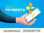 easy online payments concept...   Shutterstock .eps vector #2018109734