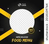 banner food menu social media... | Shutterstock .eps vector #2018109764
