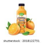 realistic detailed 3d orange...   Shutterstock .eps vector #2018122751