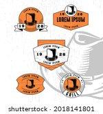 set of vintage badge logo icon...   Shutterstock .eps vector #2018141801