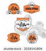 set of vintage badge logo icon...   Shutterstock .eps vector #2018141804