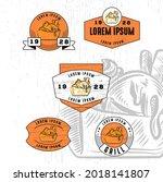 set of vintage badge logo icon...   Shutterstock .eps vector #2018141807