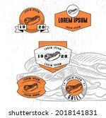 set of vintage badge logo icon...   Shutterstock .eps vector #2018141831