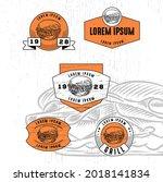 set of vintage badge logo icon...   Shutterstock .eps vector #2018141834
