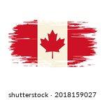 canadian flag brush grunge... | Shutterstock .eps vector #2018159027