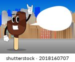 ice cream with hands in rocker...   Shutterstock .eps vector #2018160707