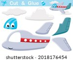 funny air plane with clouds.... | Shutterstock .eps vector #2018176454
