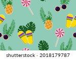 seamless pattern. cute cartoon...   Shutterstock .eps vector #2018179787