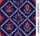 ethnic zigzag seamless pattern... | Shutterstock .eps vector #2018189741