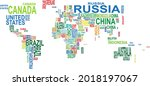 typography world map made of... | Shutterstock .eps vector #2018197067