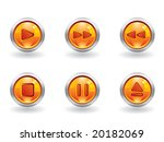 glossy music button set | Shutterstock .eps vector #20182069