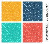 set of 4 colorful seamless...   Shutterstock .eps vector #2018209754