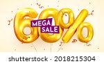 60 percent off. discount... | Shutterstock .eps vector #2018215304