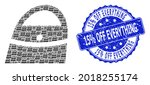 15 percent off everything... | Shutterstock .eps vector #2018255174