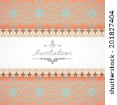 vintage seamless background and ... | Shutterstock .eps vector #201827404
