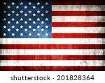 grunge american flag | Shutterstock .eps vector #201828364
