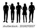 vector silhouettes of  men and... | Shutterstock .eps vector #2018293037