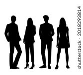 vector silhouettes of  men and... | Shutterstock .eps vector #2018293814
