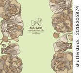 background with maitake  piece...   Shutterstock .eps vector #2018305874