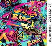 Abstract Seamless Girl Graffiti ...