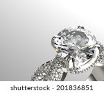 golden engagement ring with... | Shutterstock . vector #201836851