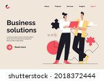 business concept flat style... | Shutterstock .eps vector #2018372444