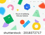 vector landing page with... | Shutterstock .eps vector #2018372717
