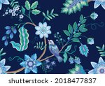seamless pattern with stylized... | Shutterstock .eps vector #2018477837